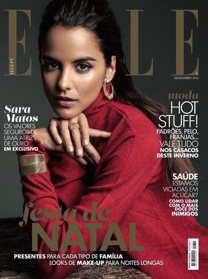 Sara Matos na revista Elle Portugal Dezembro 2016
