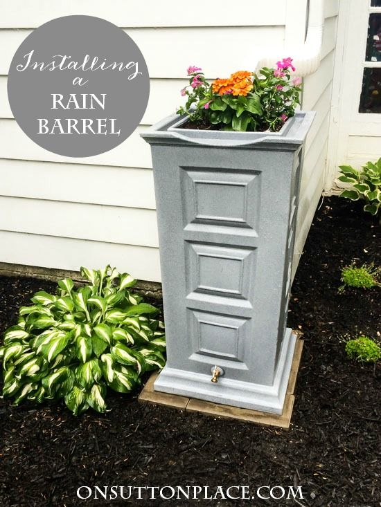 directions for installing a rain barrel shows what extra supplies are needed with pictures and - Decorative Rain Barrels