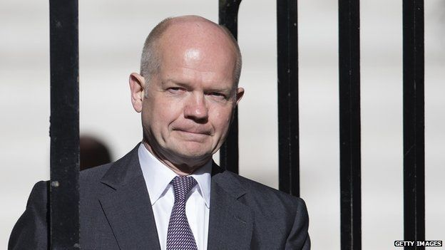 William Hague steps down as foreign secretary.