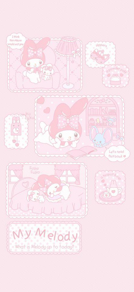 Pink Wallpaper Kawaii, My Melody Wallpaper, Cute Desktop Wallpaper, Cute Pastel Wallpaper, Sanrio Wallpaper, Cool Anime Wallpapers, Cartoon Wallpaper Iphone, Anime Scenery Wallpaper, Cute Patterns Wallpaper