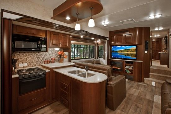 Awesome Kitchen! Cyclone 4000< Heartland Toy Haulers | Heartland RVs