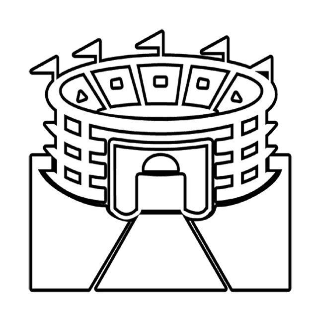 stadium super bowl coloring page for kids