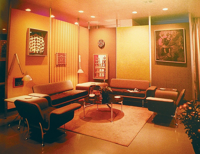 Vintage Braniff Airlines Lounge