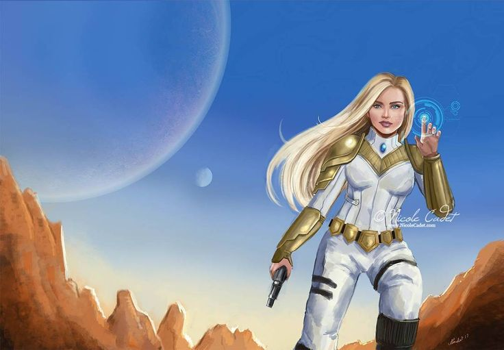 Scifi cover sample done. Now to figure out design for text #sciencefictionart #scifi #coverart #blondehair #illustration #artistsofinstagram #digitalart #digitalpainting