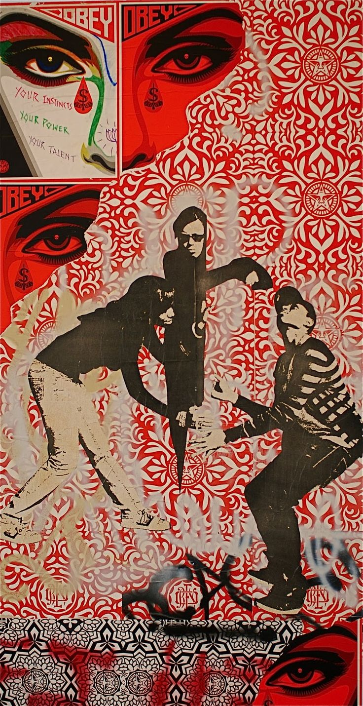 Mural Shepard Fairey Obey Psychedelic Hippie Peace Art Poster ~ ☮~ Shepard Fairey is a street artist. ☮  psychedelic, hippie art, revolution OBEY style, street graffiti, illustration and design. ☮