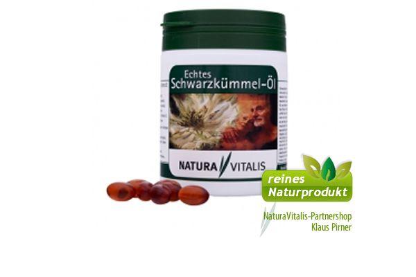 Natura Vitalis, Schwarzkümmelöl Kapseln, 500 Softgelkapseln