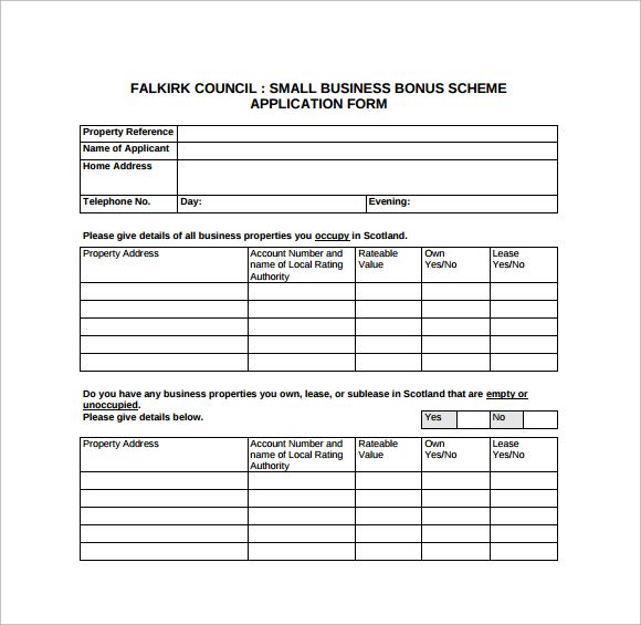 8 business application forms sle templates News to Gow Pinterest - application forms