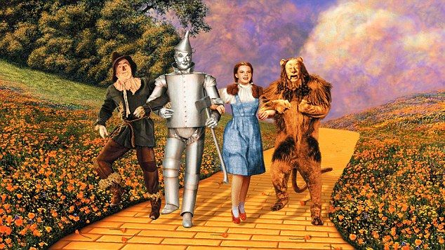 Garland is best remembered playing Dorothy (second from right), the sweet but plucky little girl from Kansas who charmed the good folk of Oz and vanquished the Wicked Witch of the West