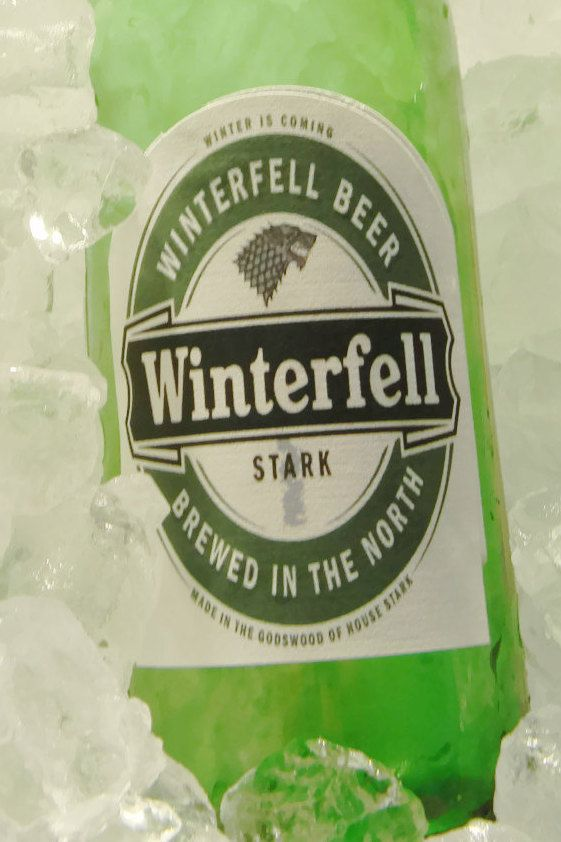 Winterfell Beer Labels, Game of Thrones, Stocking Stuffer,Winter is Coming, House Stark,ned stark,arya stark,robb stark,sansa stark, by TrendyCoasters on Etsy