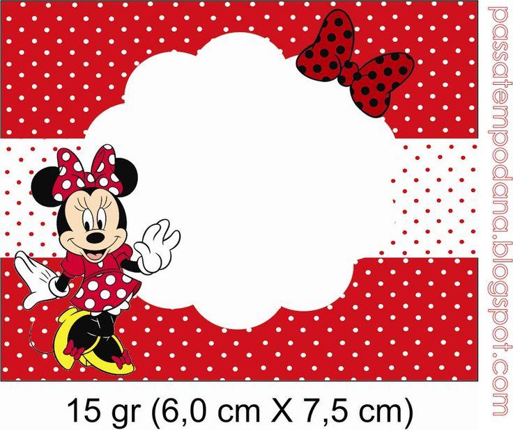 Passatempo da Ana: Kit - Minnie (Vermelho e Branco)