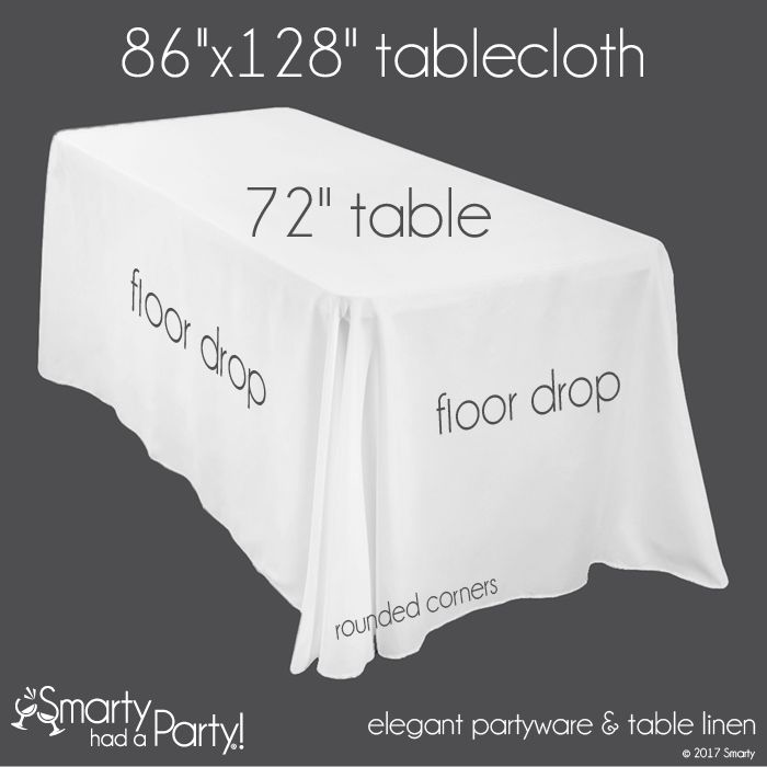 Charming Tablecloths Sizes #18 - Not Sure What Size Tablecloth You Need For Your Banquet Table? This Tablecloth  Size Guide Will Help You Determine Which Tablecloth Is Best For You.