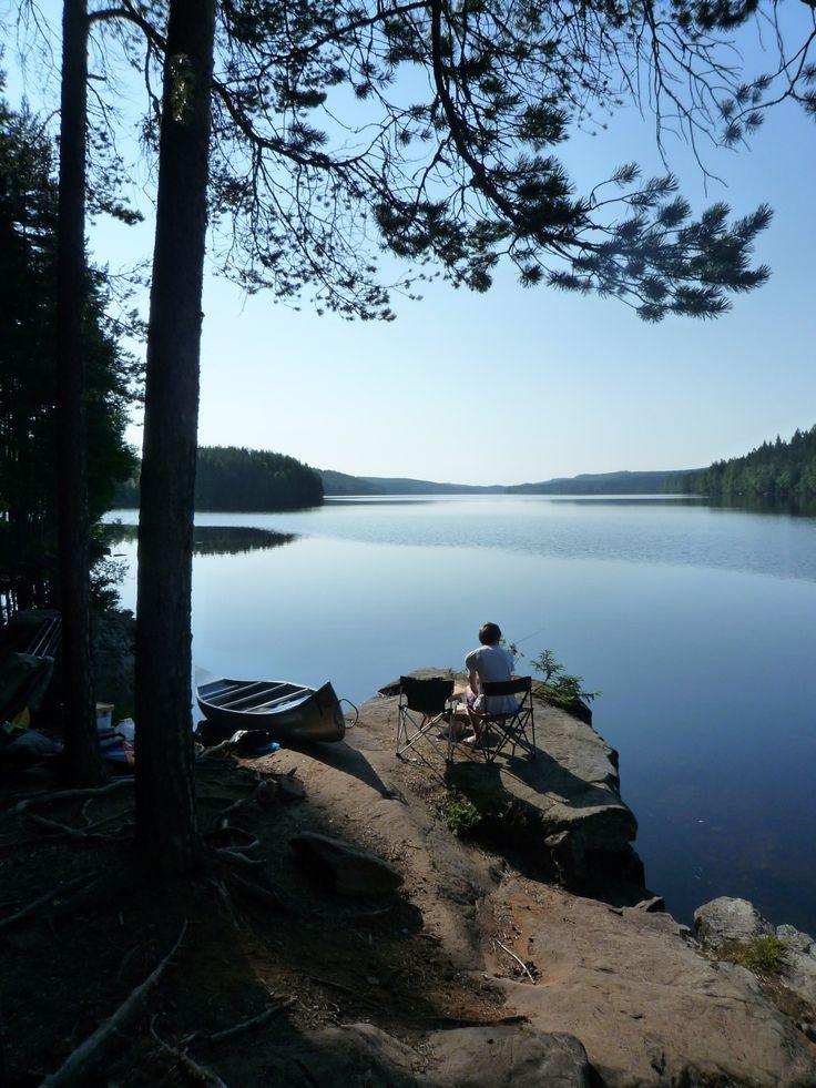 Natur around Arvika, Värmland county, Sweden
