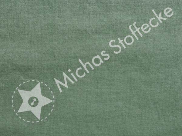 Michas Stoffecke -  Baumwoll-Leinen uni jadegrün S-PT997135-725