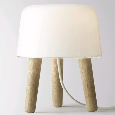 Papillon - Milk Tablelight with White Fabic Cord, £115.00 (http://www.papilloninteriors.co.uk/milk-tablelight-with-white-fabic-cord/)