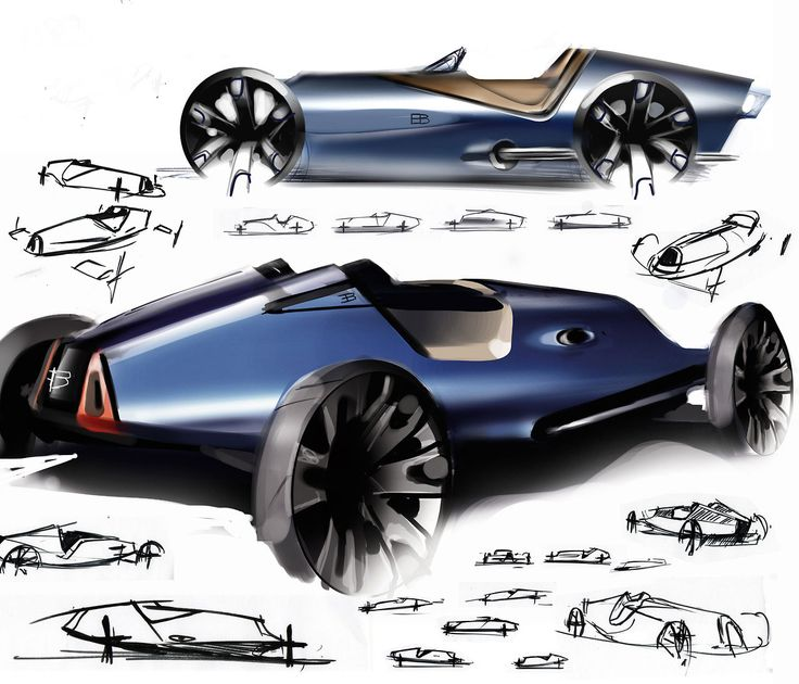 concept car sketches by ewan gallimore