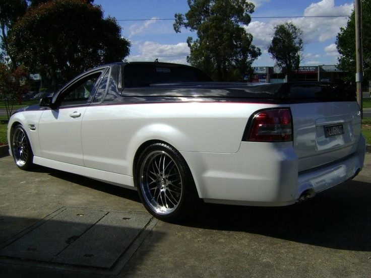 A Marriage between Holden Commodore SS Ute and Chevrolet Camaro - rear angle view