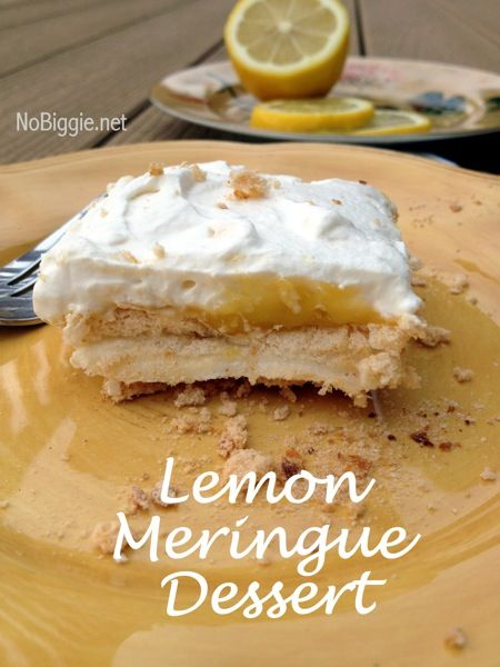 Lemon Meringue Dessert {recipe}