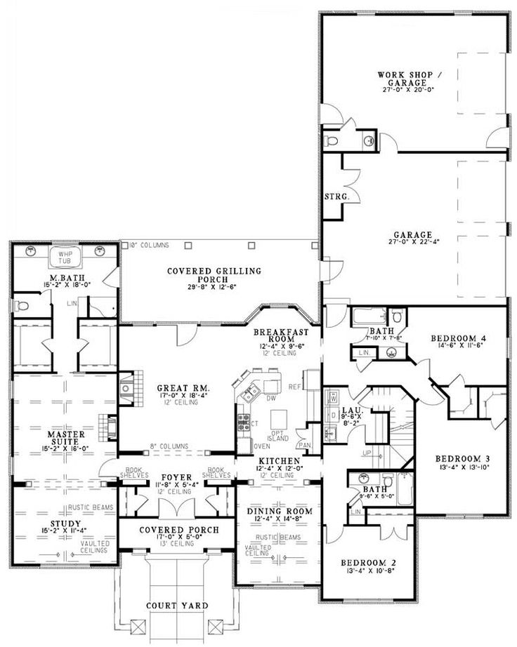 Bhg Fontana House Plan Great Grilling Porch Rework The Master Bedroom Study To A Separate