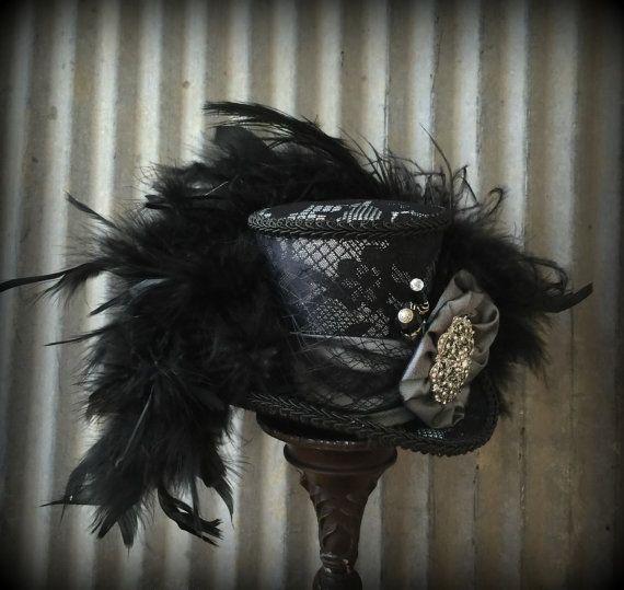 Mini Top Hat black Opera Mini Top Hat Alice in by ChikiBird