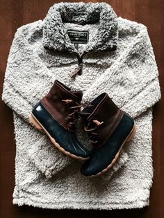 True Grit Pullover & Duck boots