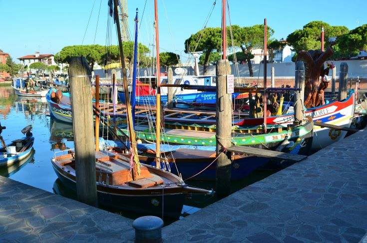 the naval #port of #Caorle. #italy