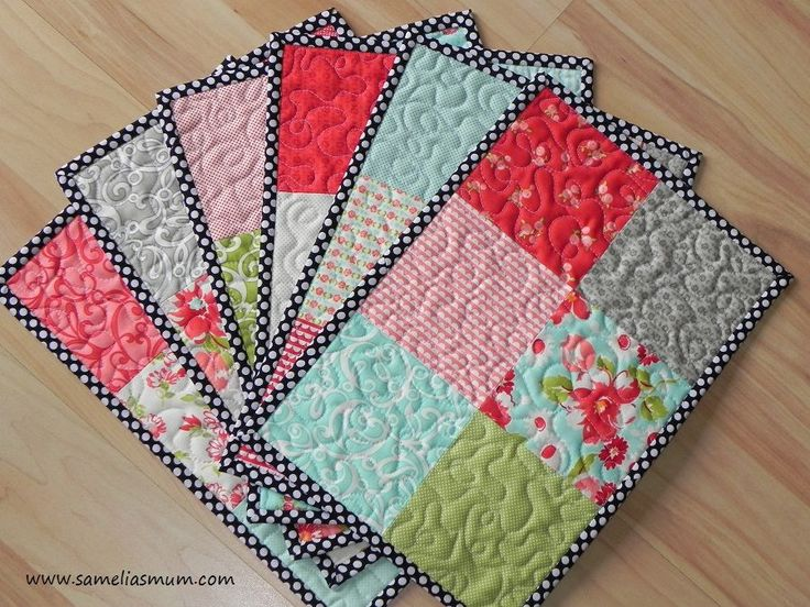 I love the patterned border!  And you can't go wrong with patches.