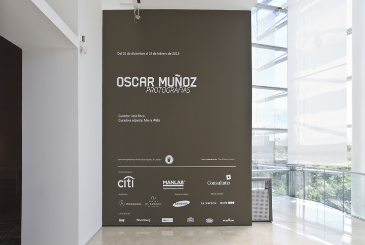 Oscar Muñoz en Malba. Registro de sala. Foto: Jorge Miño.
