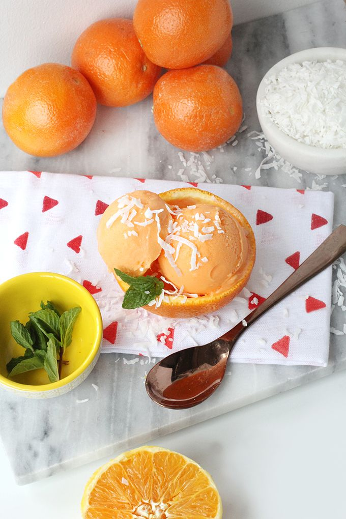 » DIY EATS | Orange Coconut Sherbet