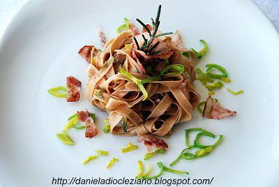 Daniela&Diocleziano: Tagliatelle di castagne con pancetta e pecorino