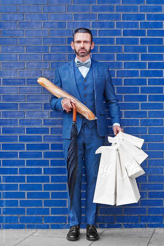 Dapper Blue Gentleman Shopping