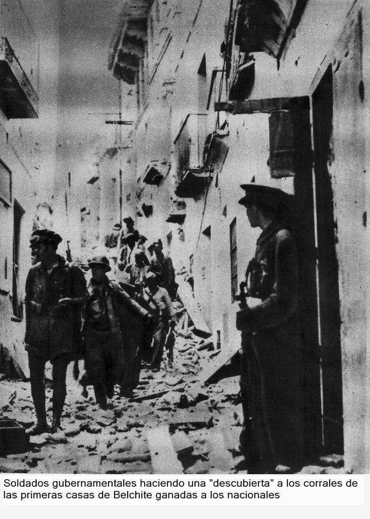 Spain - 1937. - GC - La Batalla de Belchite se llevó a cabo durante y en el marco de la Guerra Civil Española. Bajo este nombre se denominó a una serie de operaciones militares en la zona de Zaragoza y alrededores realizadas entre el 24 de agosto y el 06 de septiembre de 1937.