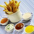 Homemade French Fries with Five Dipping Sauces Recipe at Epicurious.com