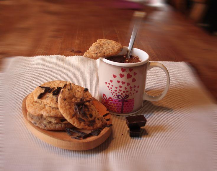 Csokidarabos keksz - Orbán Ági konyhája
