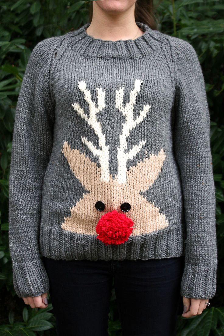 Celebrate Christmas in style by knitting a fab reindeer Christmas jumper for yourself or friends. A project for experienced knitters, these make great gifts