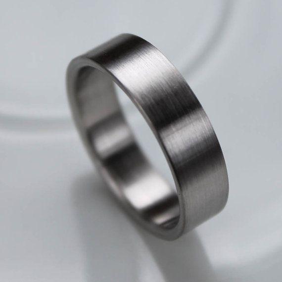 Men's Comfort Fit Palladium Wedding Band - Recycled, Eco-friendly, Ethical Wedding Ring - Custom Handmade Palladium, Gold, Silver, Platinum