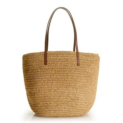 A lightweight straw tote is perfect for warm-weather vacations. They go with everything and do well poolside or out and about.