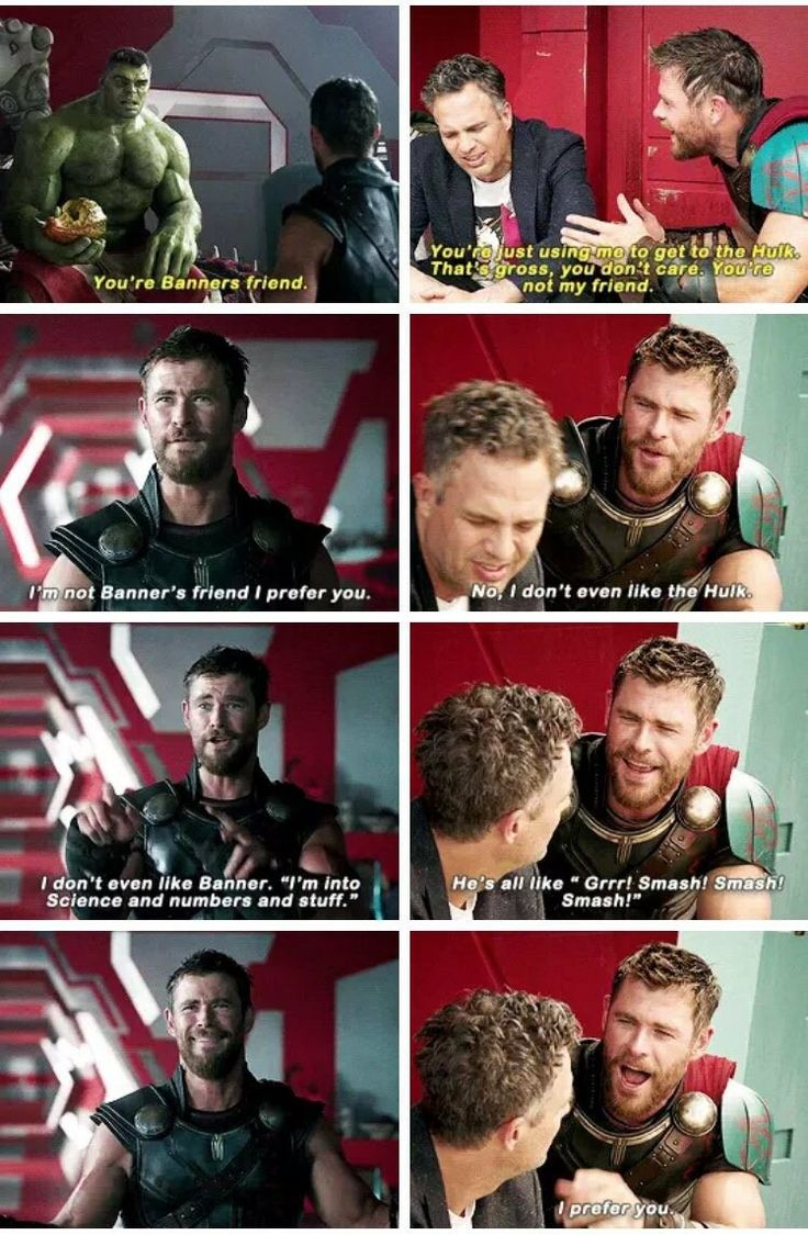 A perfect example of two-faced... but I still Love you Thor.