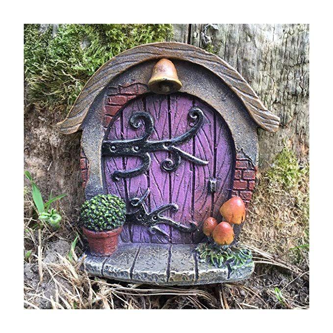 Fairy Door Tree Garden Home Decor Fairy Garden UK PINK Pixie Elf Fun Quirky Gift Figurine