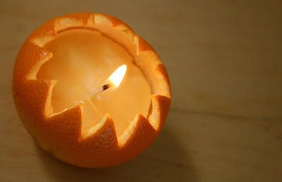 Mom in Madison: Happy Imbolc .DIY Orange Peel Candle: Just imagine how good this would smell!