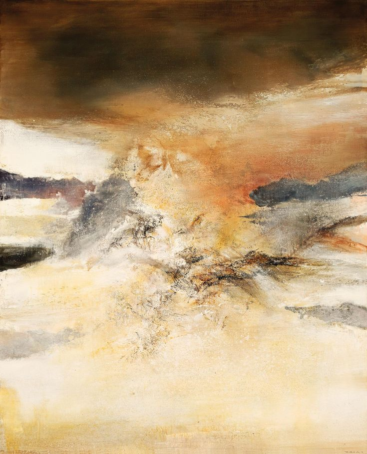 ZAO Wou-ki (Chinese-French, 1921 - 2013) 8.10.84 Oil on canvas 200 x 162 cm