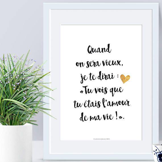 A4 Affiche Papier Déclaration Amouraffiche Citation