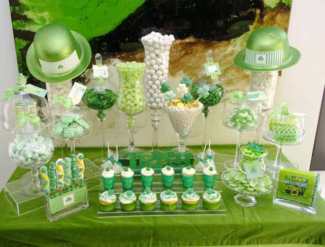 Love this Saint Patrick's Day Dessert Table Setup thanks to @Catch My Party. One of our Top 30 Pinners!