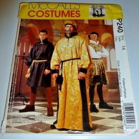 Medieval Renaissance Fair Knight Noble Camelot King Halloween Costume Pattern  #McCalls