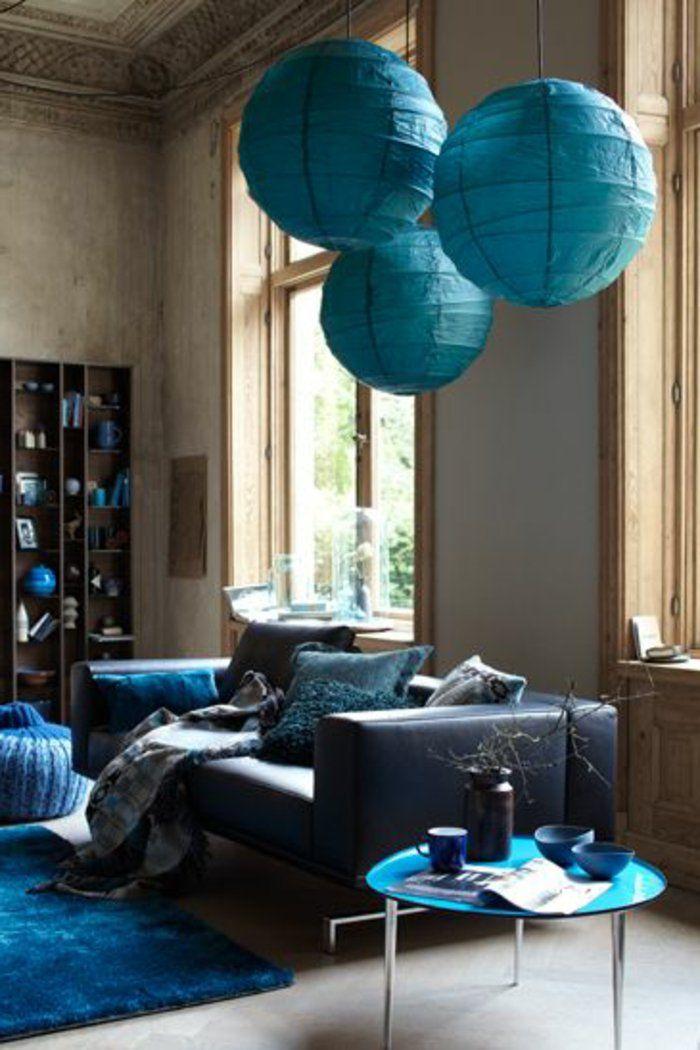 Salon bleu canard ile ilgili Pinterest\'teki en iyi 25\'den fazla ...