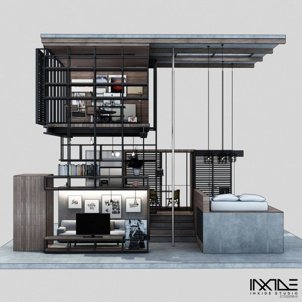Home Designing — (via Compact Modern House Made from Affordable...