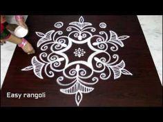 simple bird rangoli designs with 7x4 dots, beautiful kolam designs, small muggulu designs with dots - YouTube