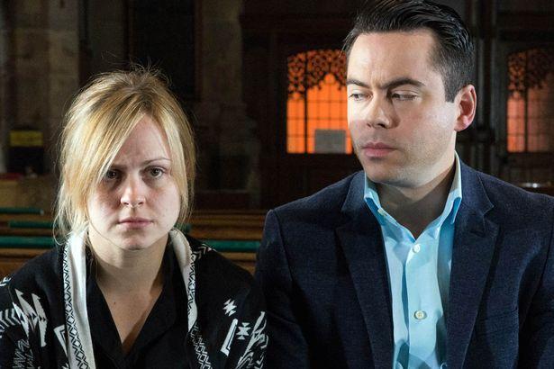 Sarah Louise Platt (Tina McIntyre) & Todd Grimshaw (Bruno Langley) (June 2016)
