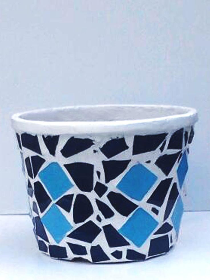 Pot with mosaic