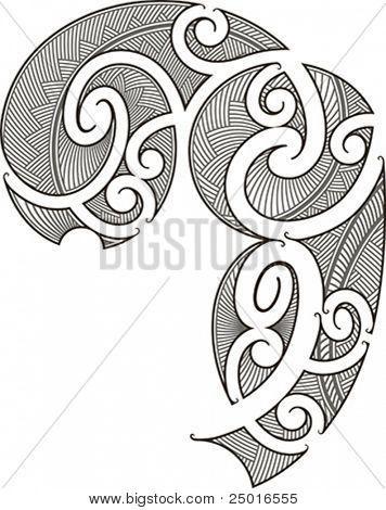 spiral maori style