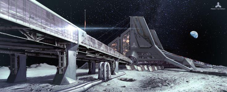 ArtStation - Lunar Base, Simon Fetscher